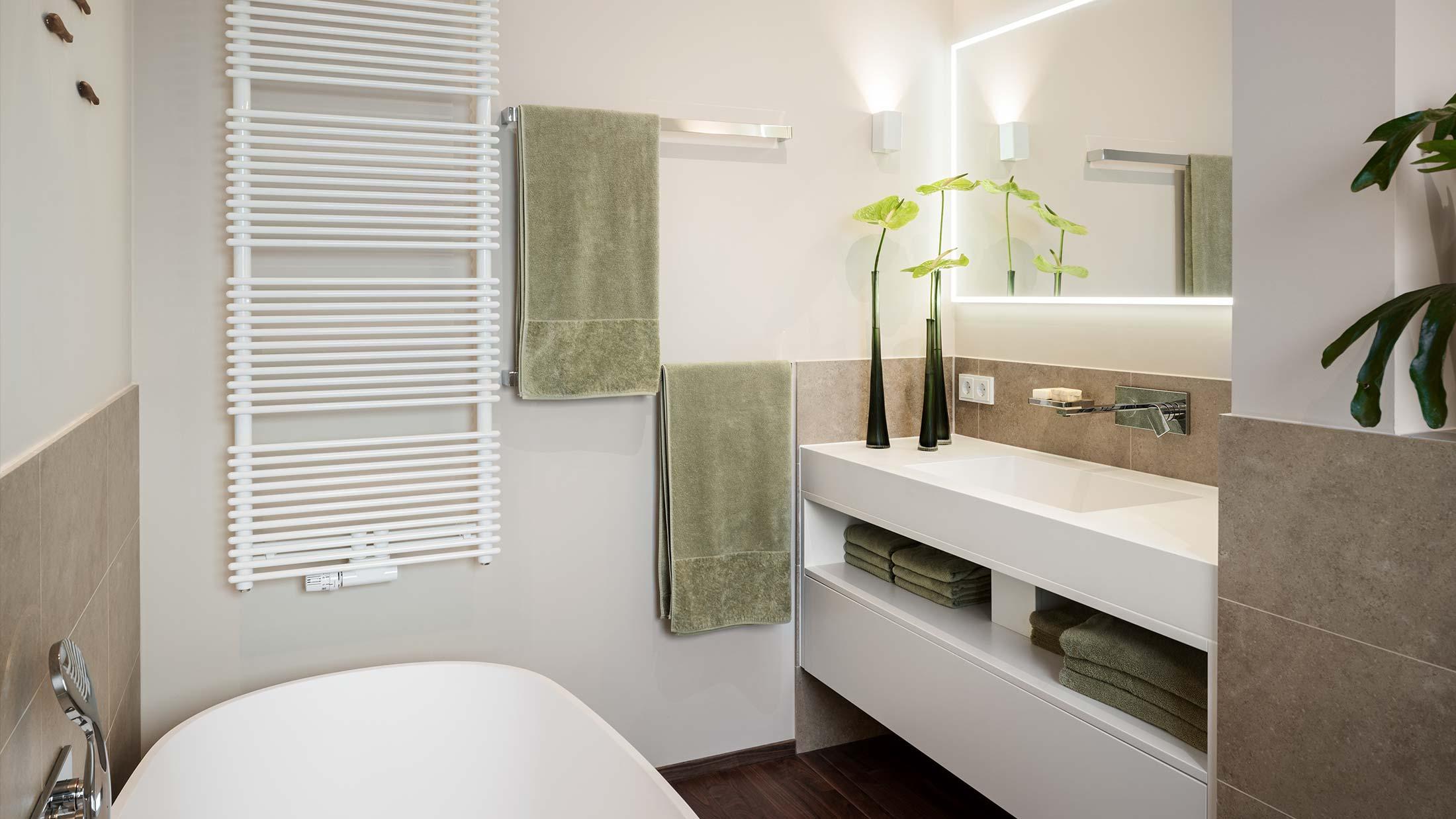 Penthouse Fünf Morgen: Baddesign, Luxusbad, Antonio Lupi Badobjekte